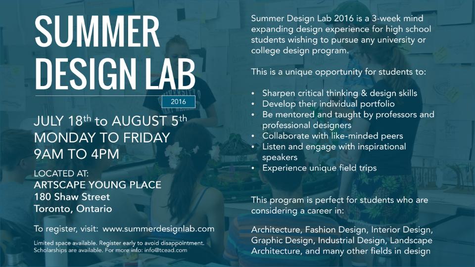 Summer Design Lab 2016