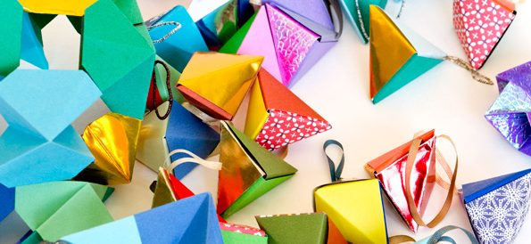 Origami Christmas Ornaments | Apartment Therapy | 274x595